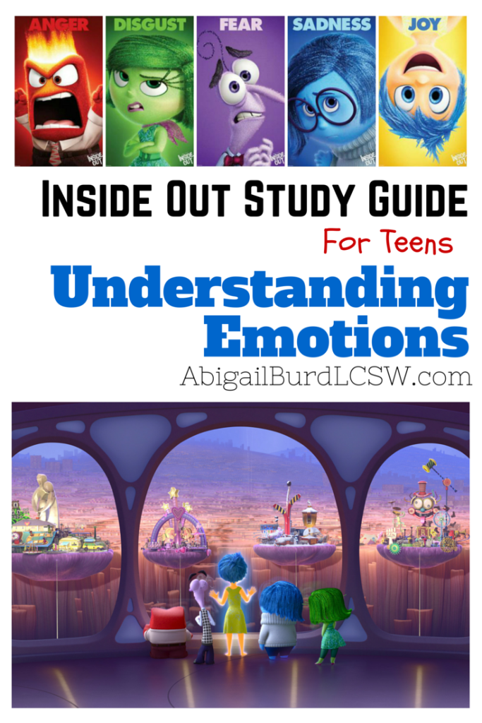 An Inside Out Disney Pixar Study Guide Understanding Emotions